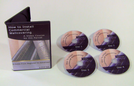 Photo of How to Install Commercial  Wallcovering a 4 DVD SET  to train and instruct wallpaper installers